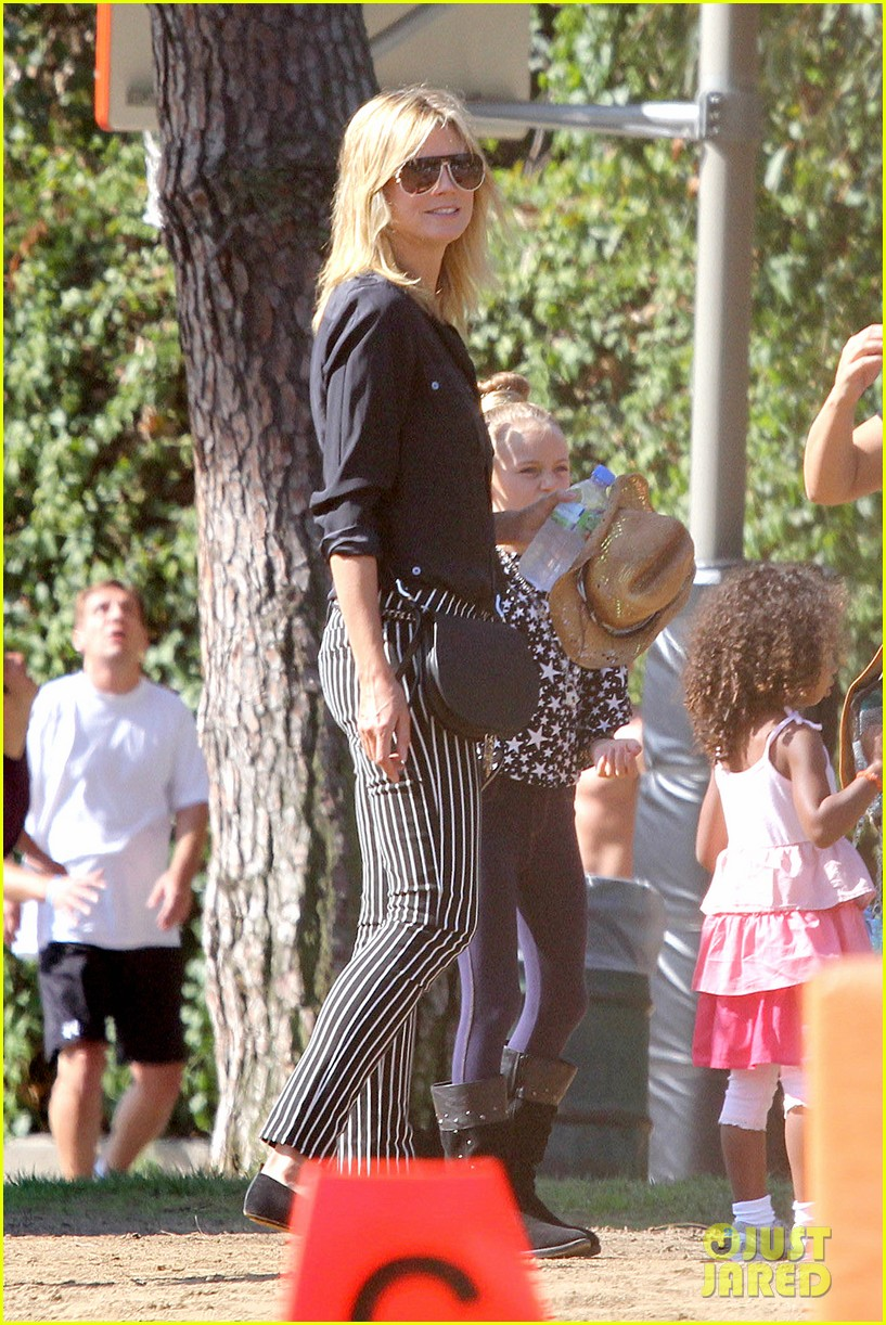 heidi klum soccer game with family 142738482