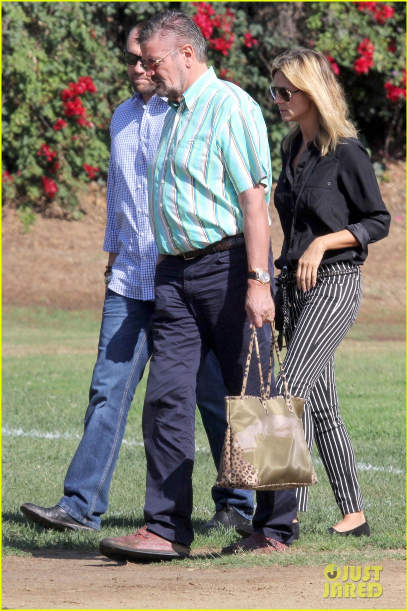heidi klum soccer game with family 252738493
