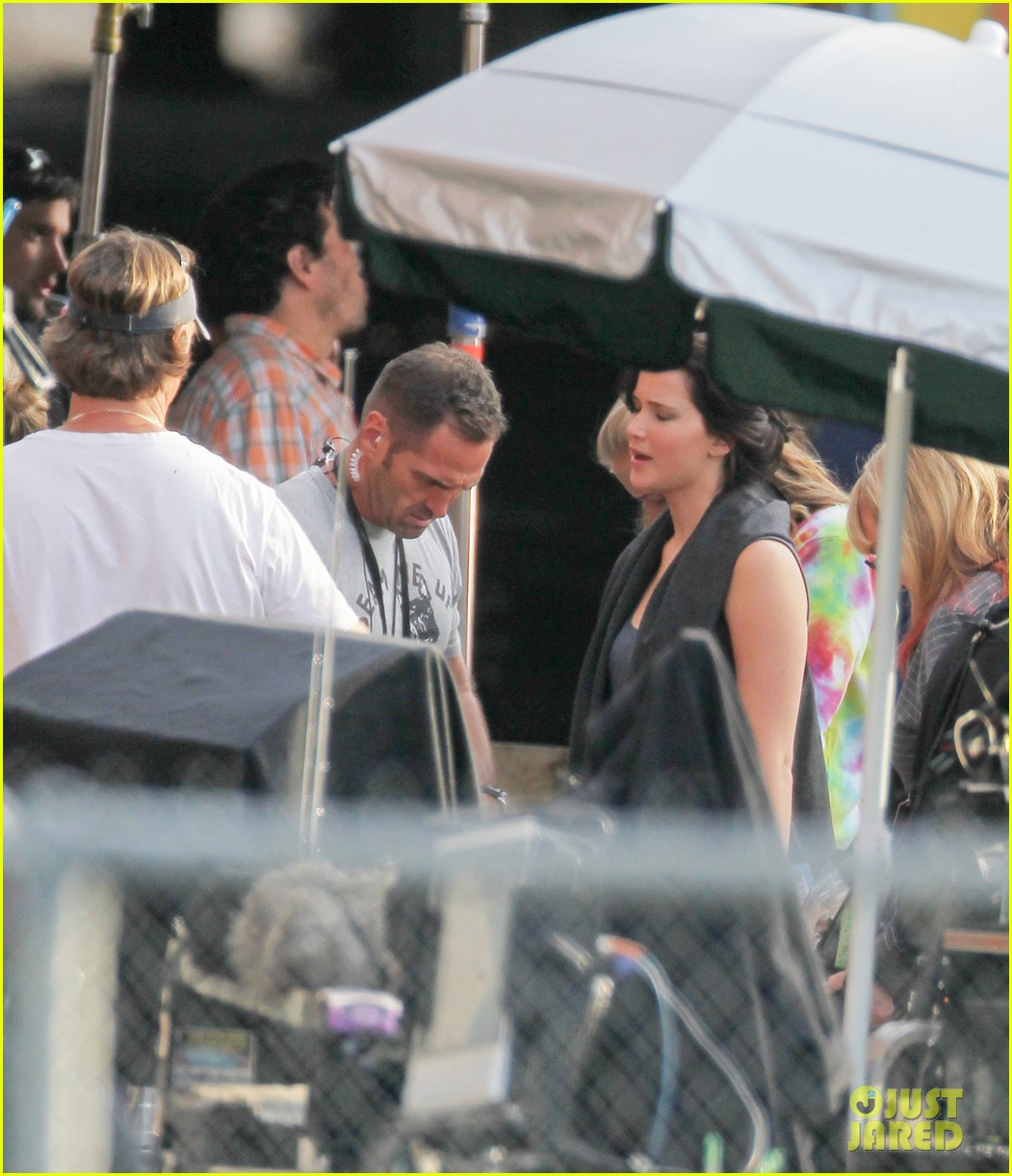 jennifer lawrence catching fire set 12
