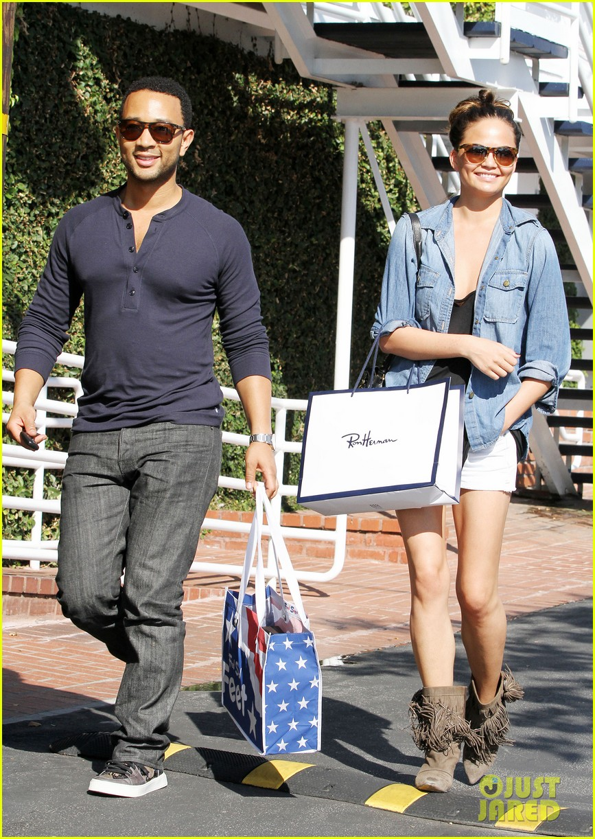 john legend chrissy teigen fred segal shoppers 242733382