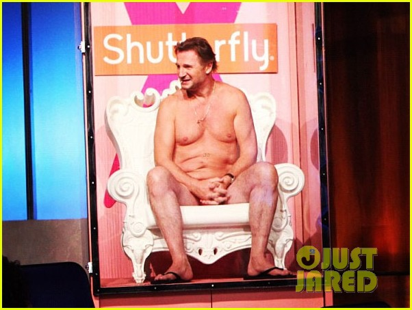 liam neeson nearly naked on ellen 03