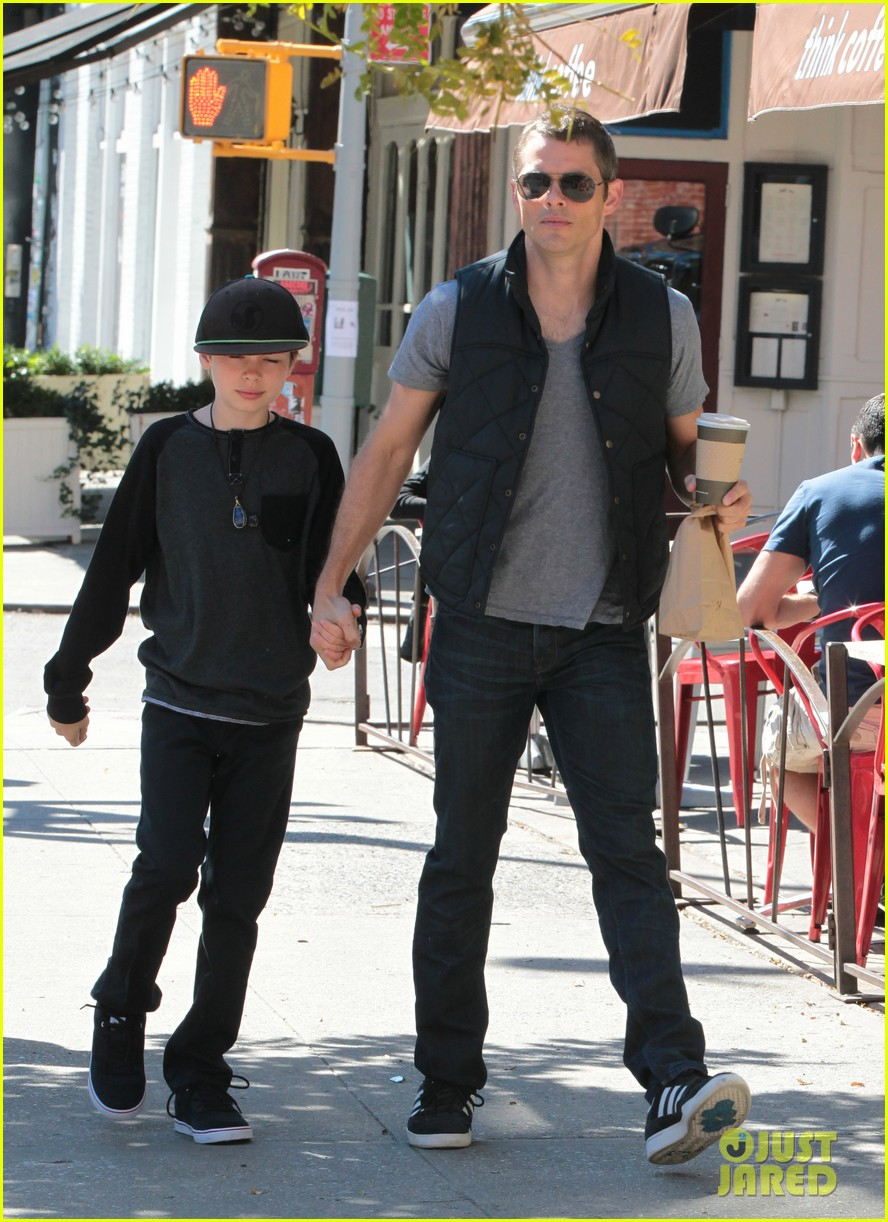 james marsden east village coffee run with son jack 052731792