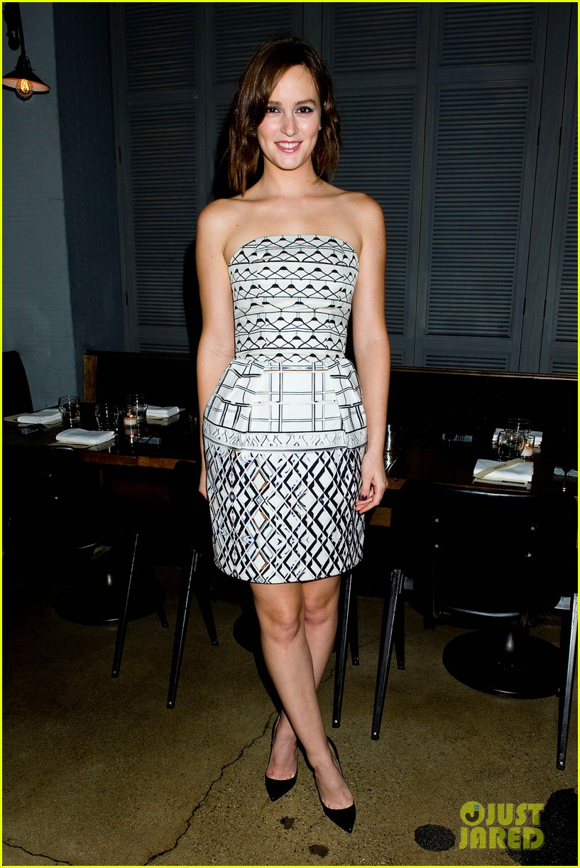 leighton meester short hair for flaunt dinner 05
