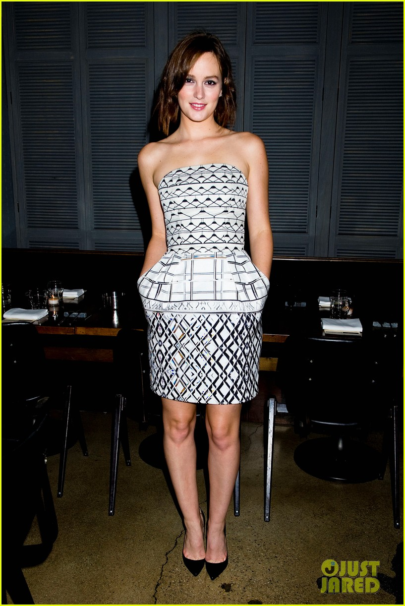 leighton meester short hair for flaunt dinner 07