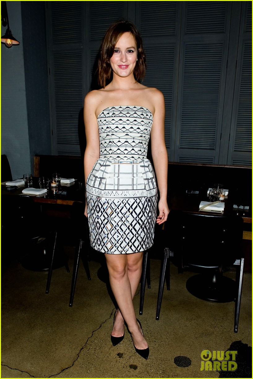 leighton meester short hair for flaunt dinner 10