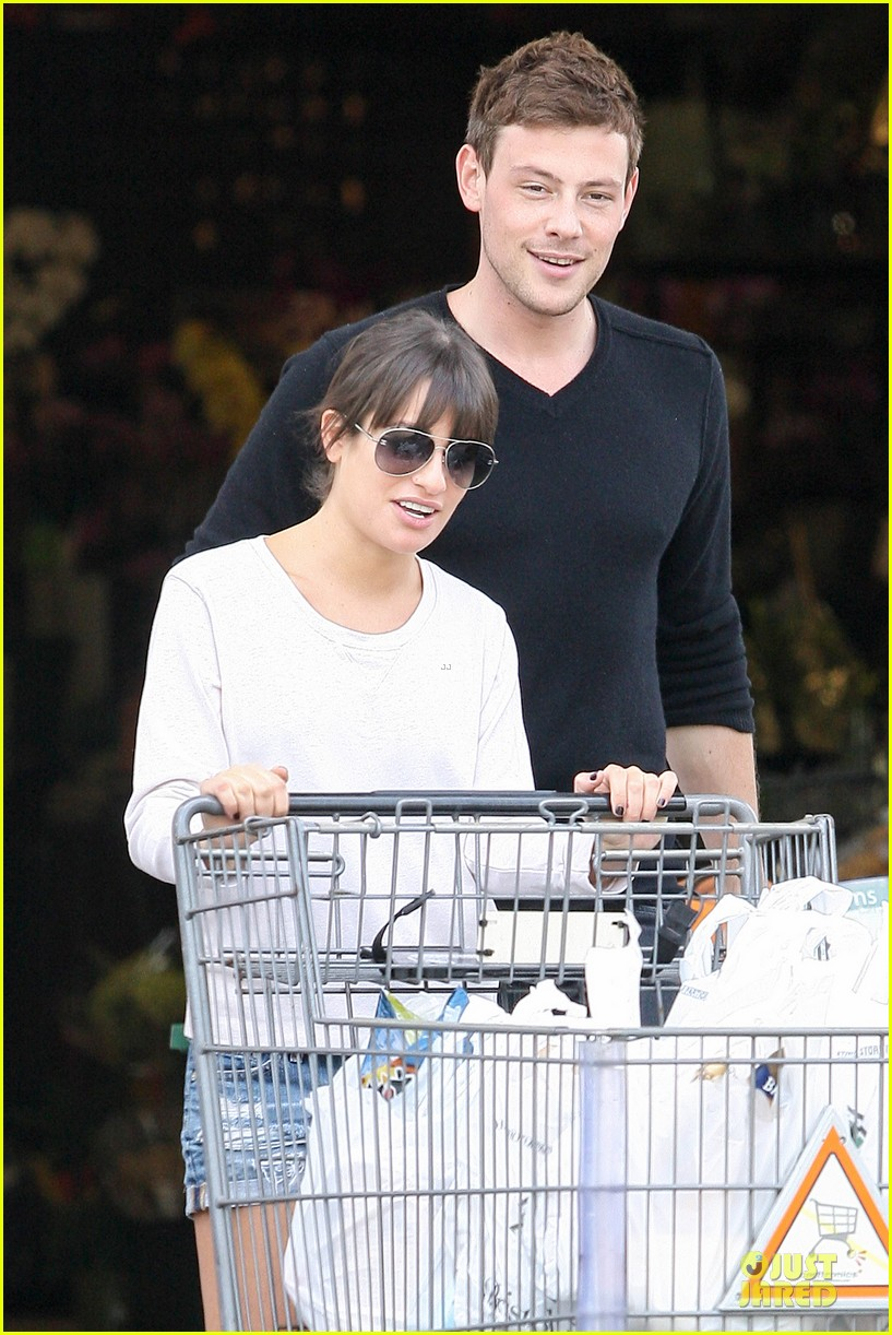 lea michele cory monteith football sunday cooking 072742248