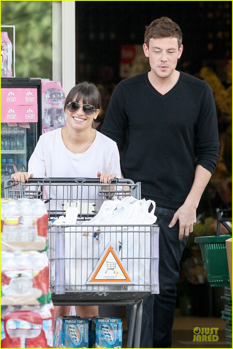 lea michele cory monteith football sunday cooking 092742250