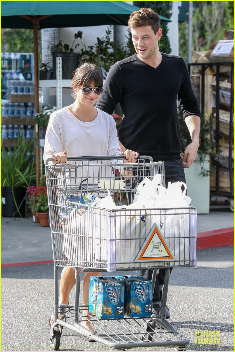 lea michele cory monteith football sunday cooking 132742254