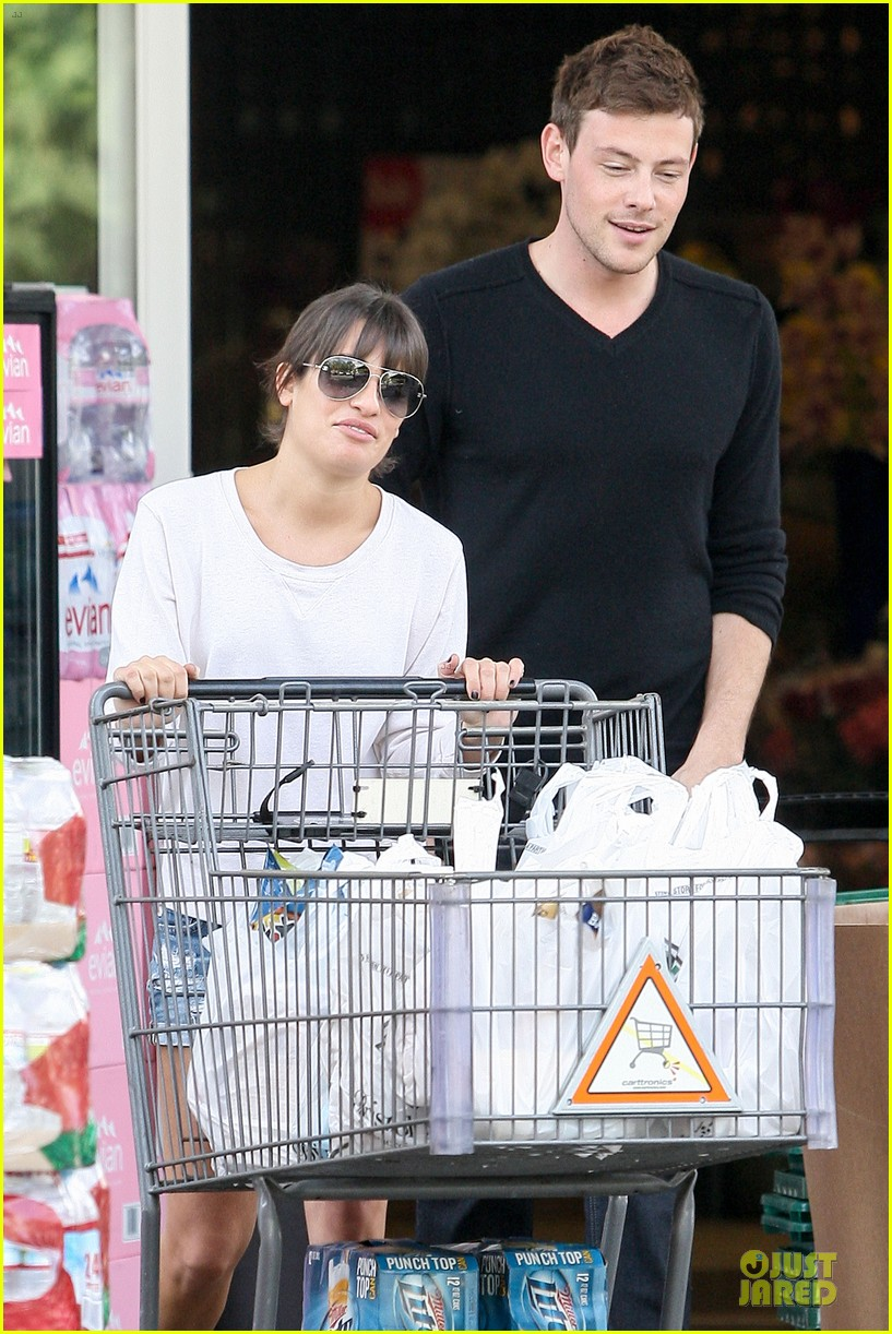 lea michele cory monteith football sunday cooking 16