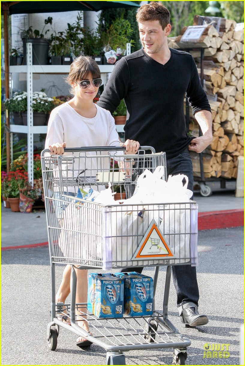 lea michele cory monteith football sunday cooking 172742258