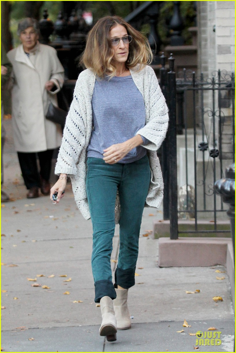 sarah jessica parker school walk with james marion tabitha 11