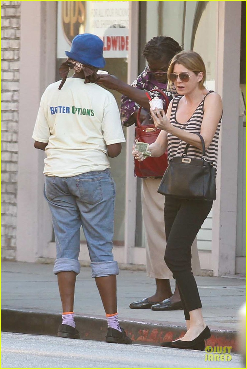 ellen pompeo ice cream sunday with mother in law 022747358