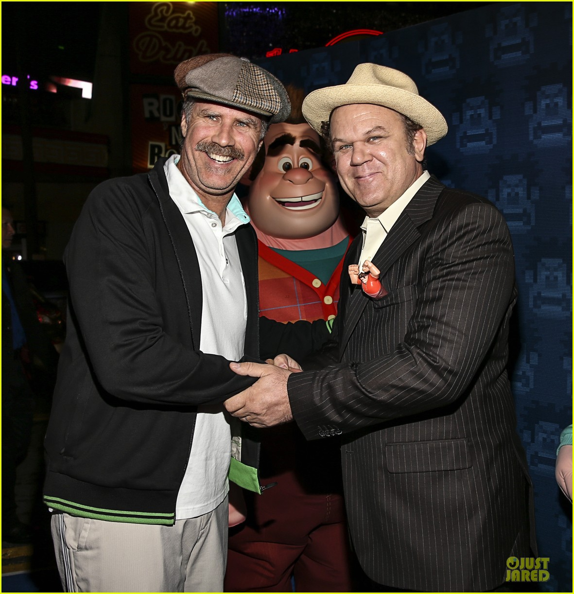 sarah silverman john c reilly wreck it ralph premiere 02