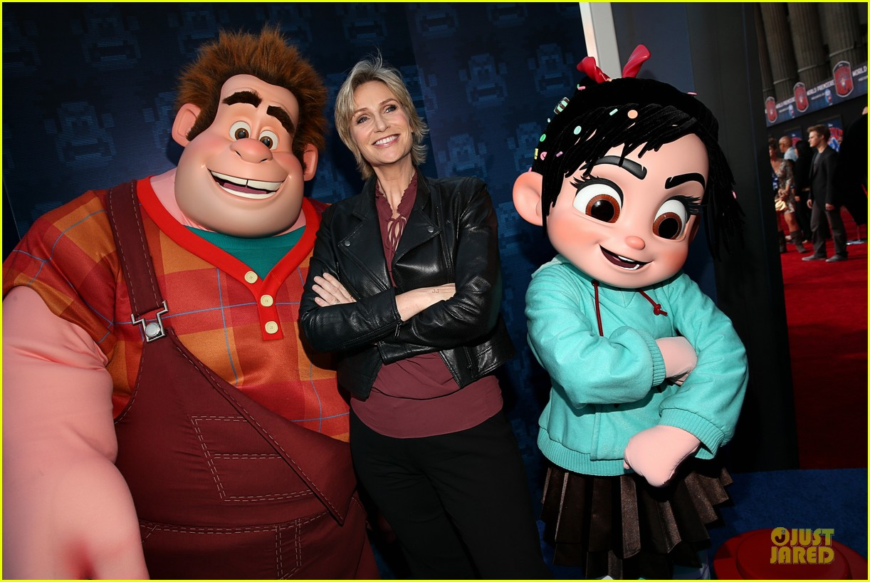 sarah silverman john c reilly wreck it ralph premiere 16