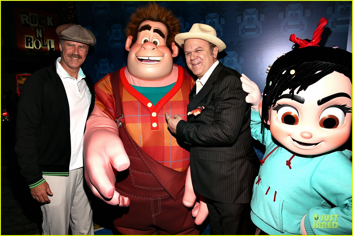 sarah silverman john c reilly wreck it ralph premiere 19