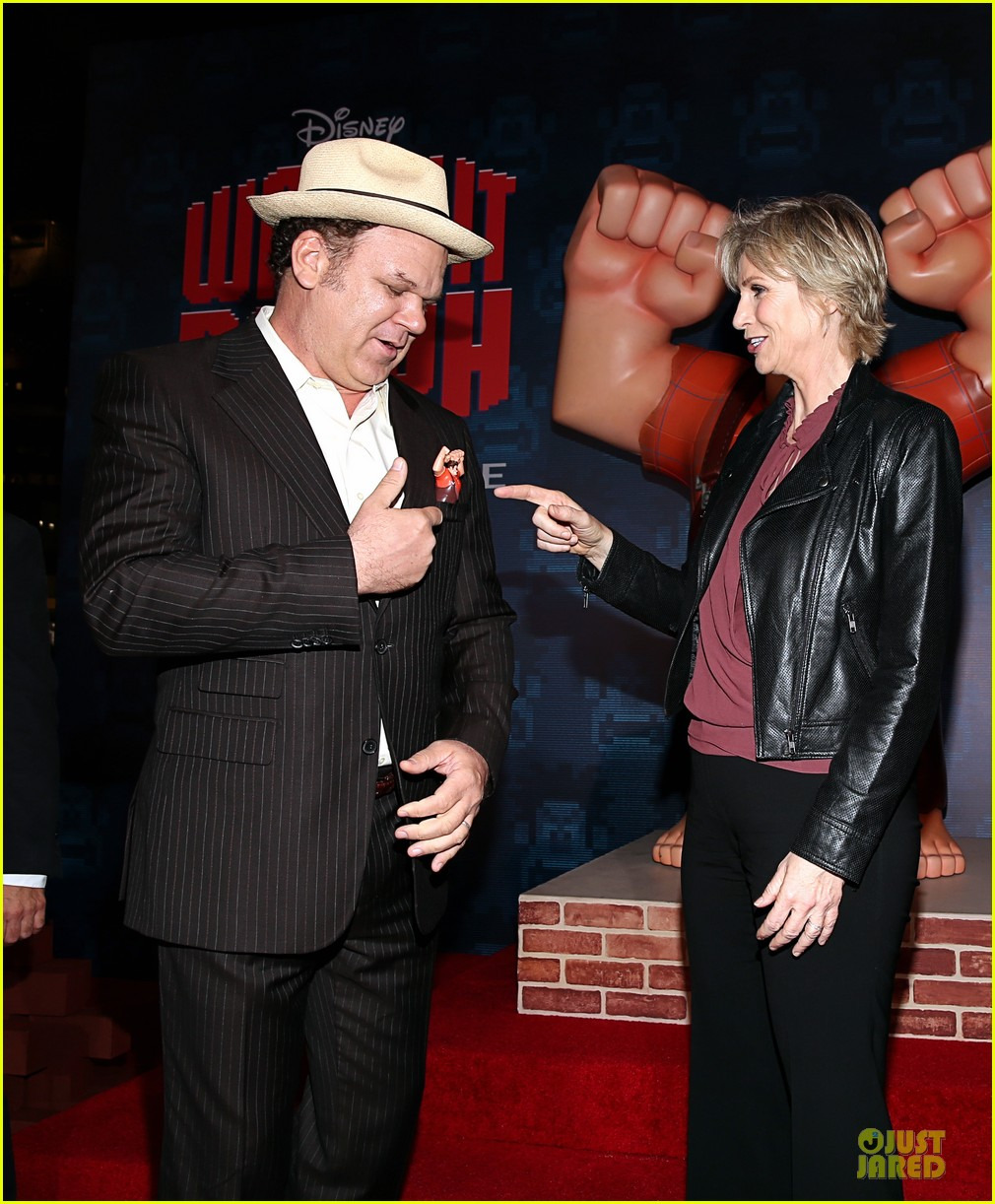 sarah silverman john c reilly wreck it ralph premiere 23