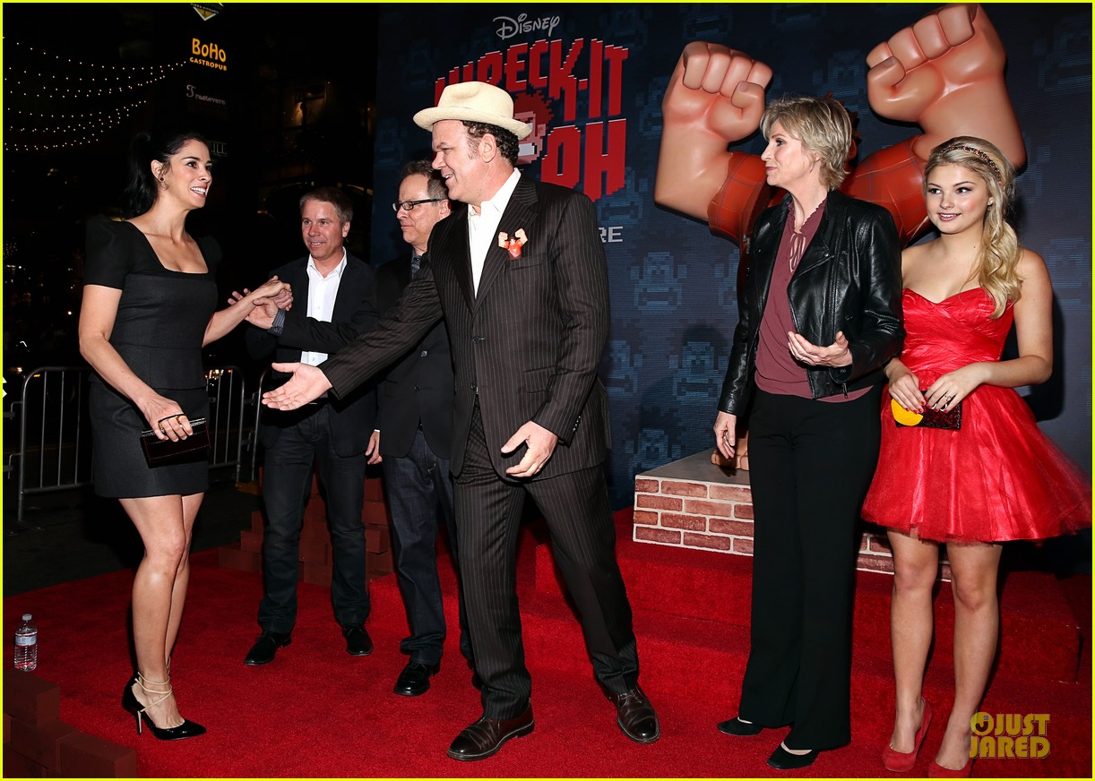 sarah silverman john c reilly wreck it ralph premiere 31