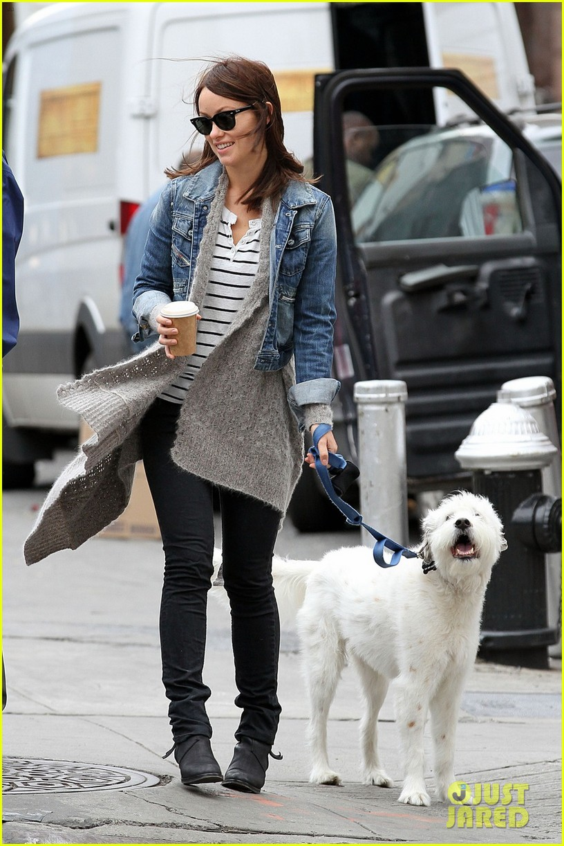 olivia wilde new york stroll with paco 022737497