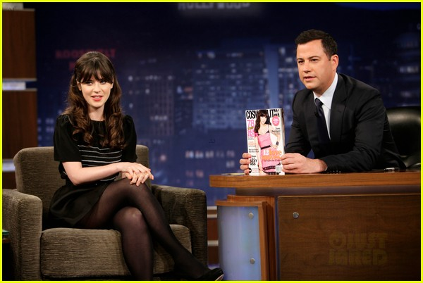 zooey deschanel jimmy kimmel live appearance 03