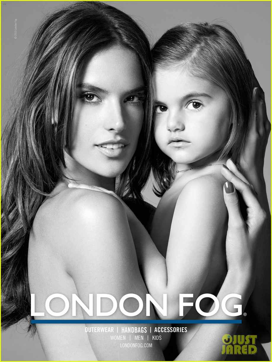 alessandra ambrosio london fog campaign with anja 042755108
