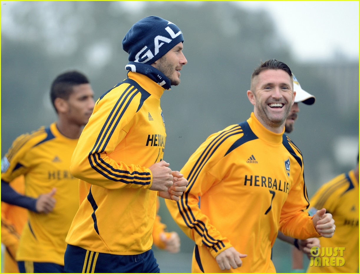 david beckham mls cup 2012 training session 02