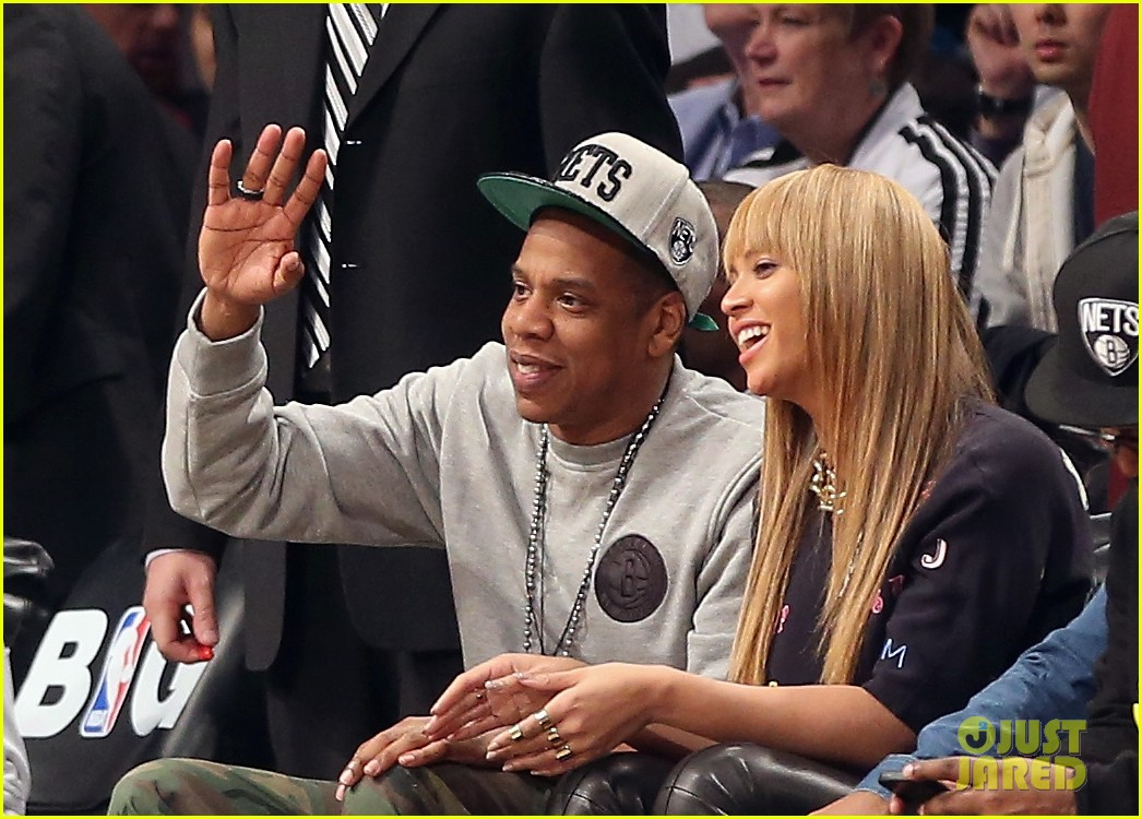 beyonce jay z nets vs knicks game at barclays center 042764505