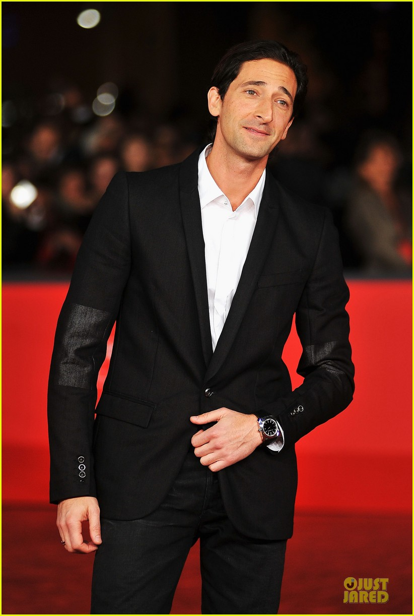 adrien brody lara lieto back to 1942 rome film festival premiere 20