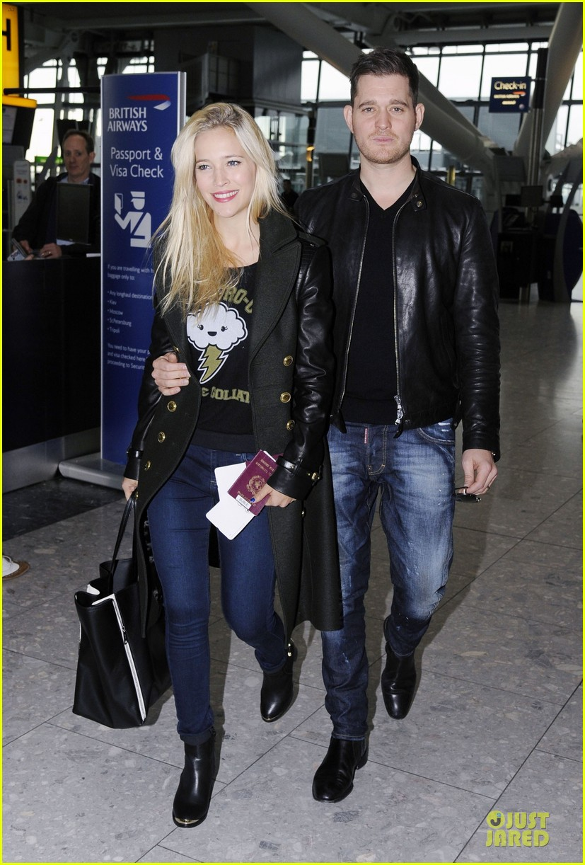 michael buble luisana lopilato london departing couple 08