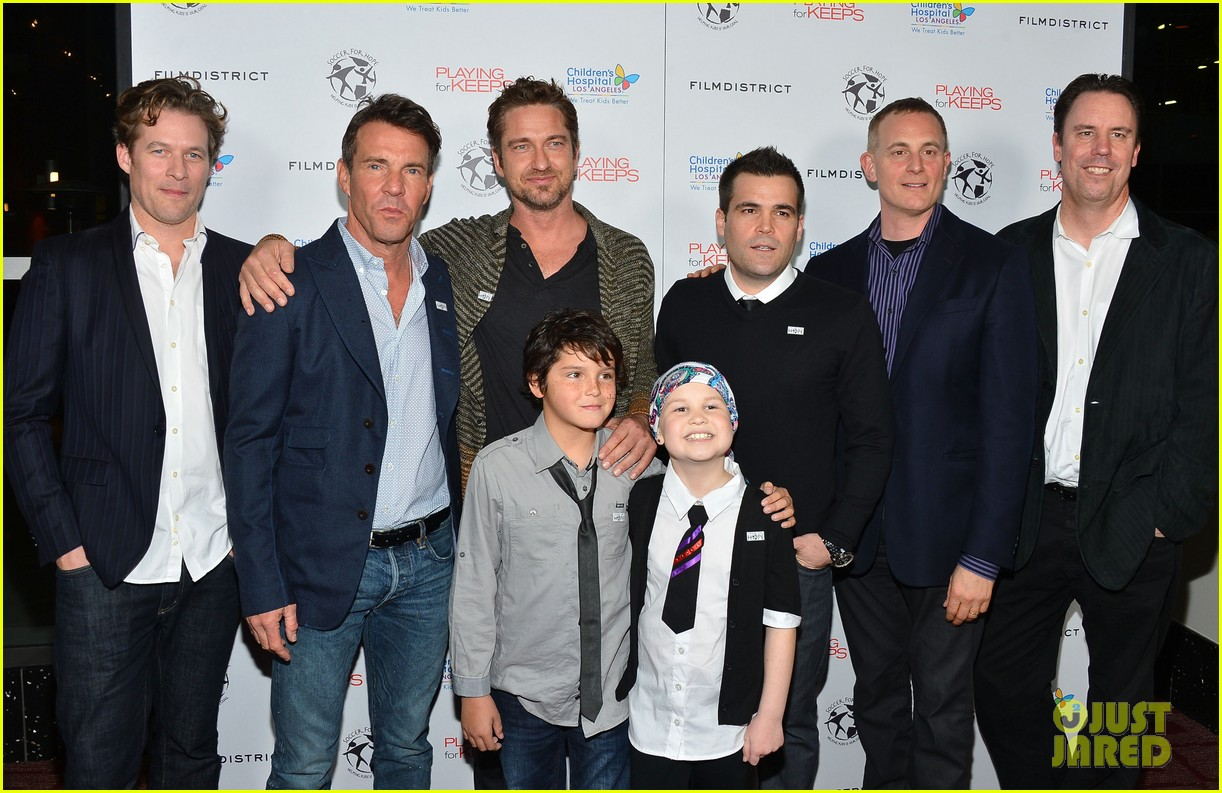 gerard butler playing for keeps childrens hospital screening 24