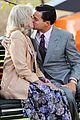 leonardo dicaprio kisses joanna lumley on wolf set 02