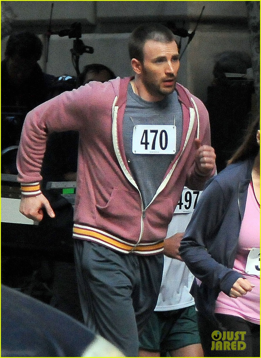 chris evans splintered thing marathon runner 14