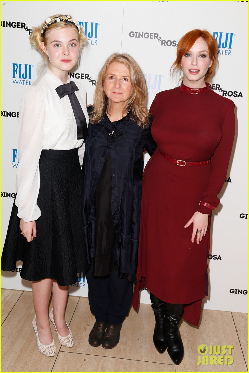 elle fanning ginger rosa screening with christina hendricks 03