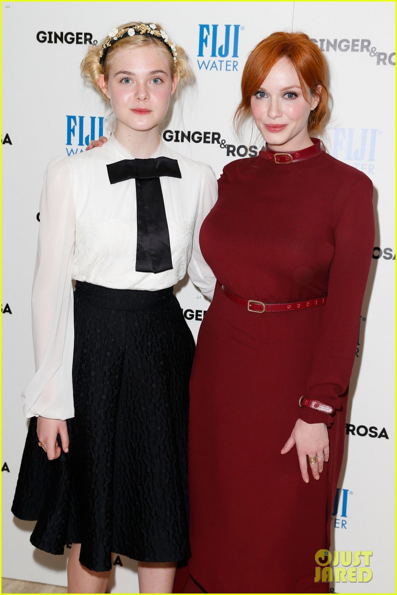 elle fanning ginger rosa screening with christina hendricks 092754169
