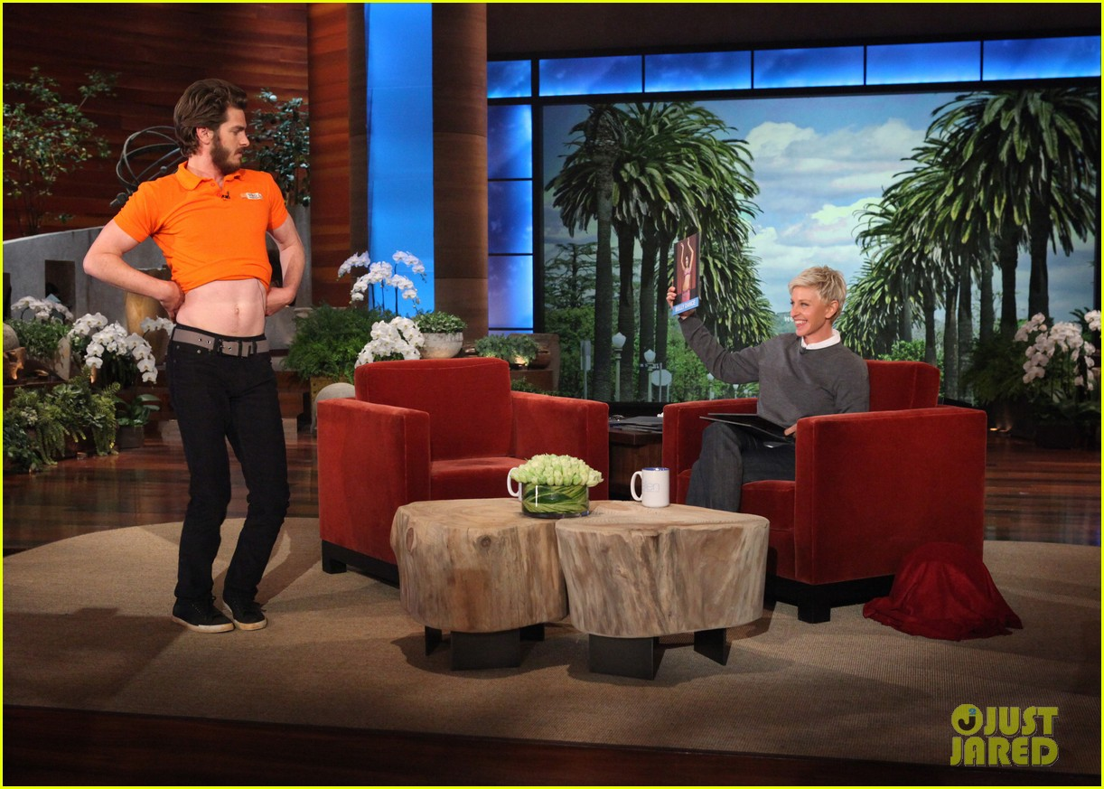 andrew garfield belly dances for charity on ellen 02