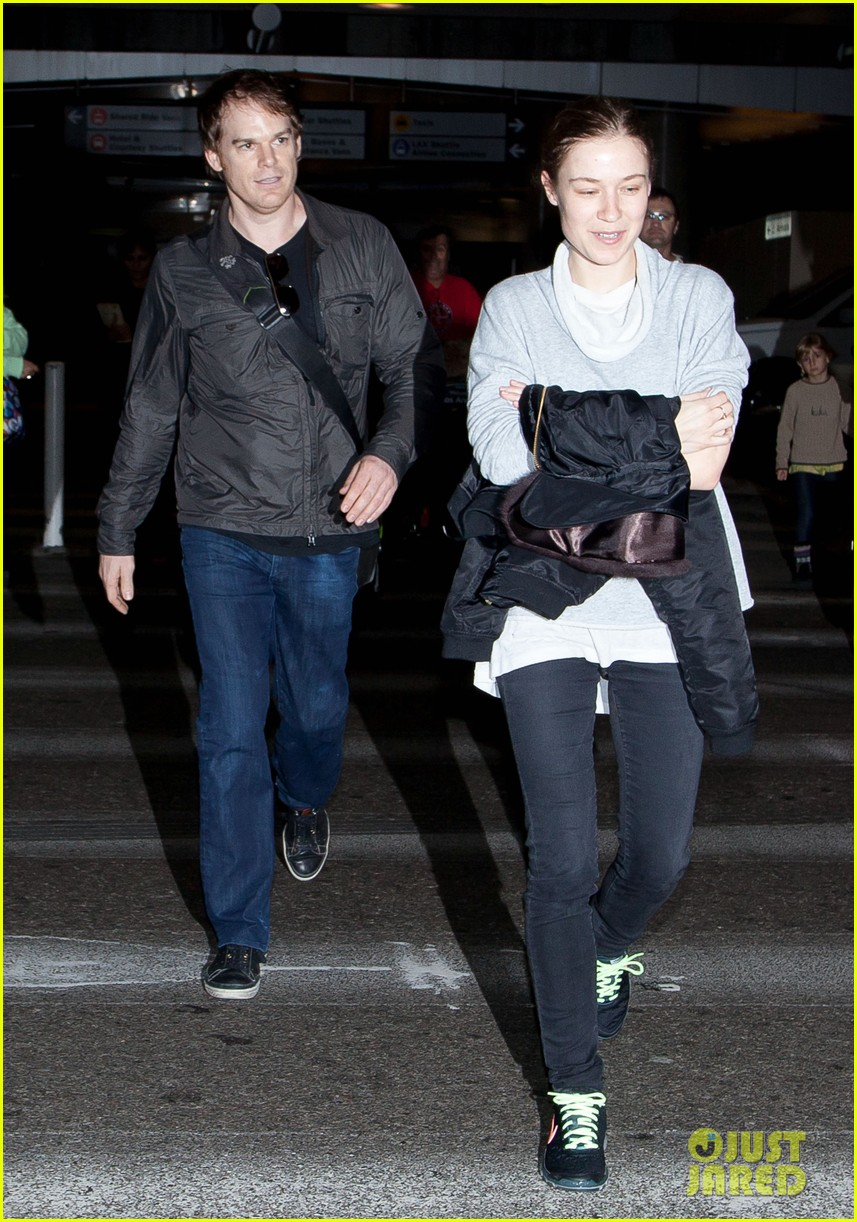 michael c hall morgan macgregor lax arrival 09