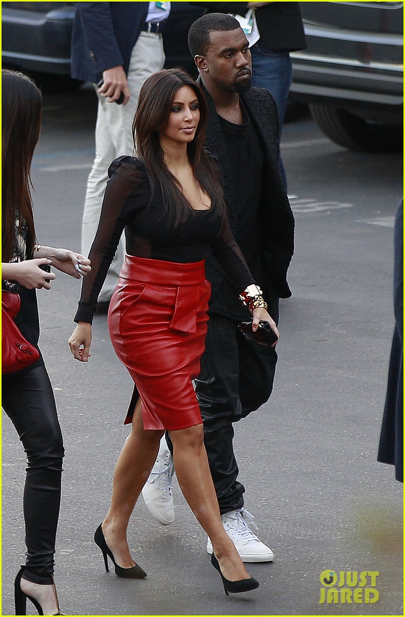 kim kardashian kanye west x factor dinner date 05