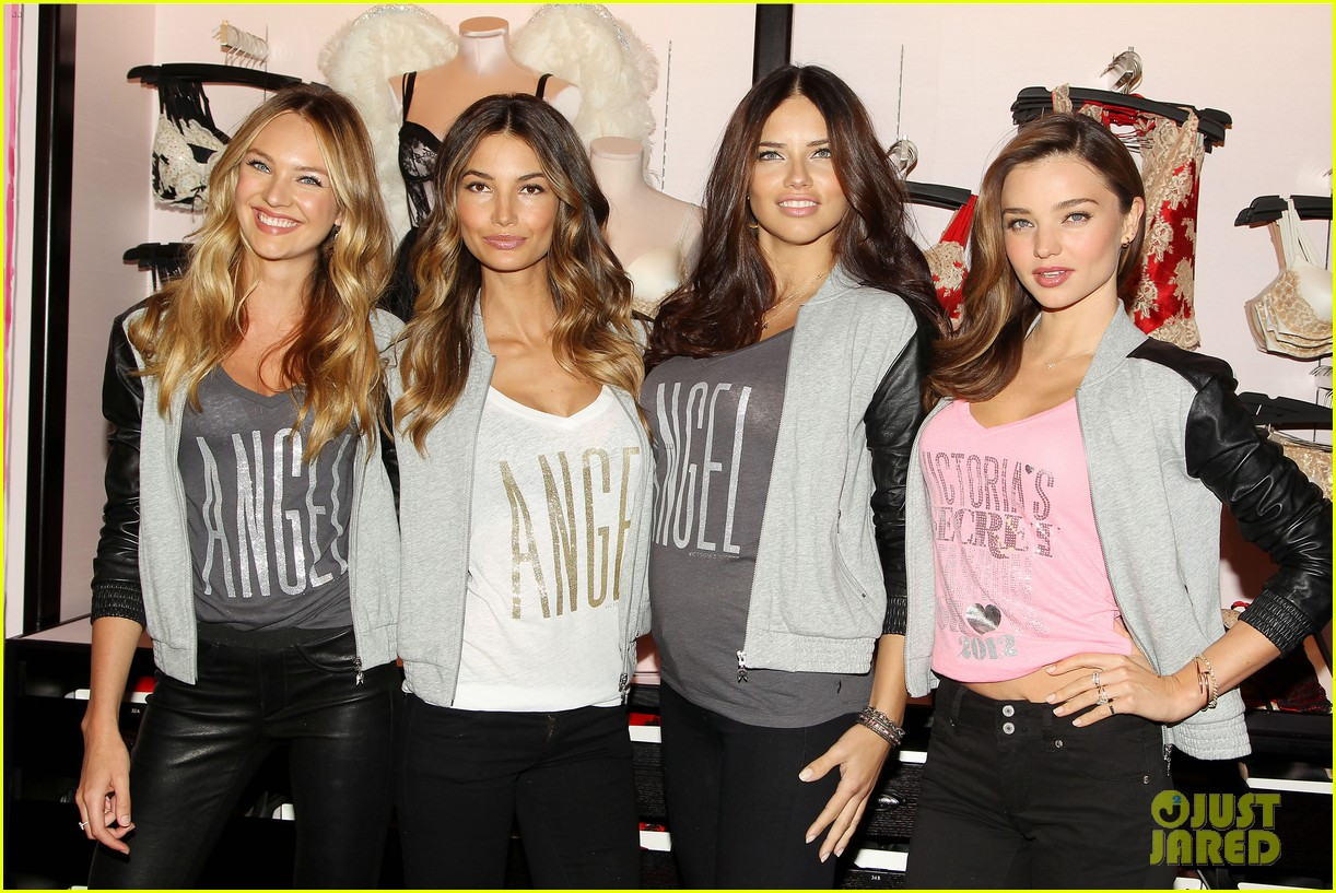 miranda kerr adriana lima victorias secret holiday hotties 332760808