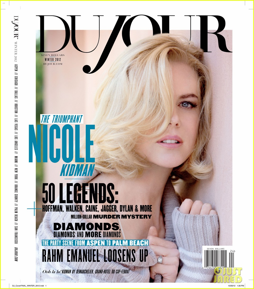 nicole kidman covers dujour magazine winter 2012