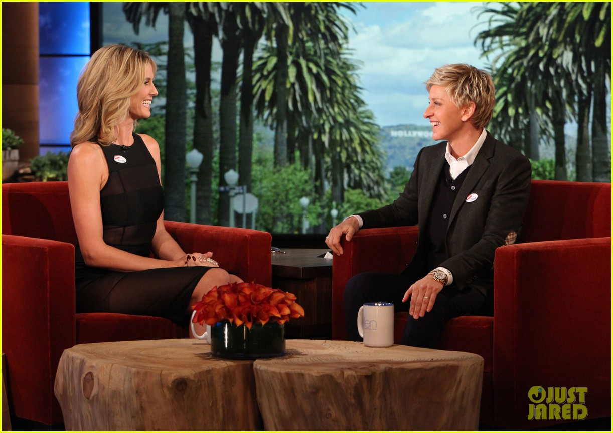 heidi klum talks voting with ellen degeneres 02