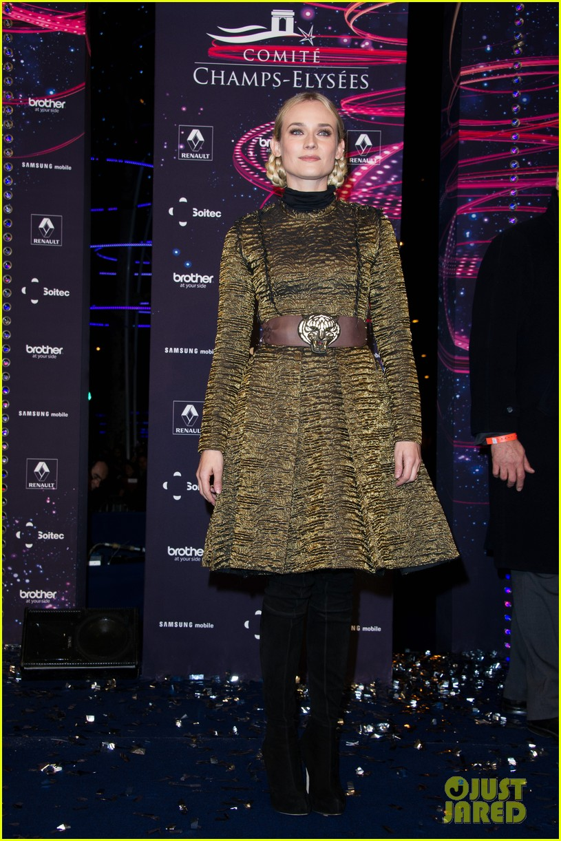 diane kruger champs elysees christmas lights launch 06