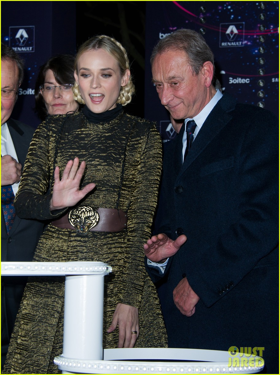diane kruger champs elysees christmas lights launch 13