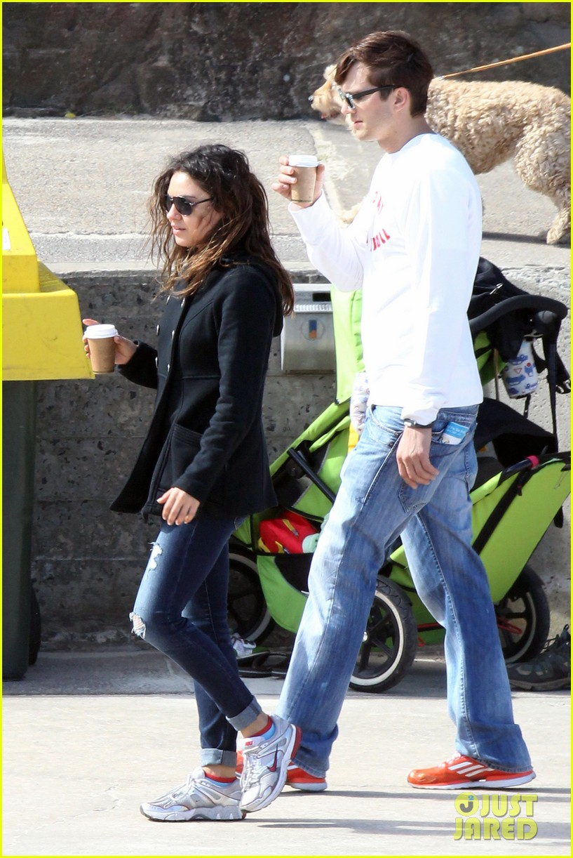 mila kunis ashton kutcher bondi to bronte beach walk 152749769
