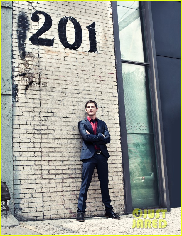 logan lerman covers visual ties magazine 07