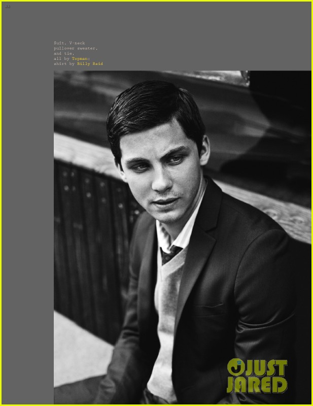 logan lerman covers visual ties magazine 08