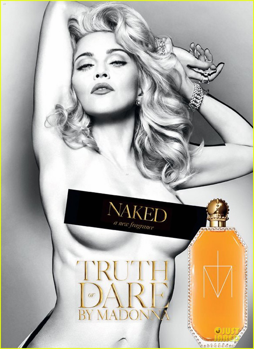 madonna topless truth or dared naked fragrance ad