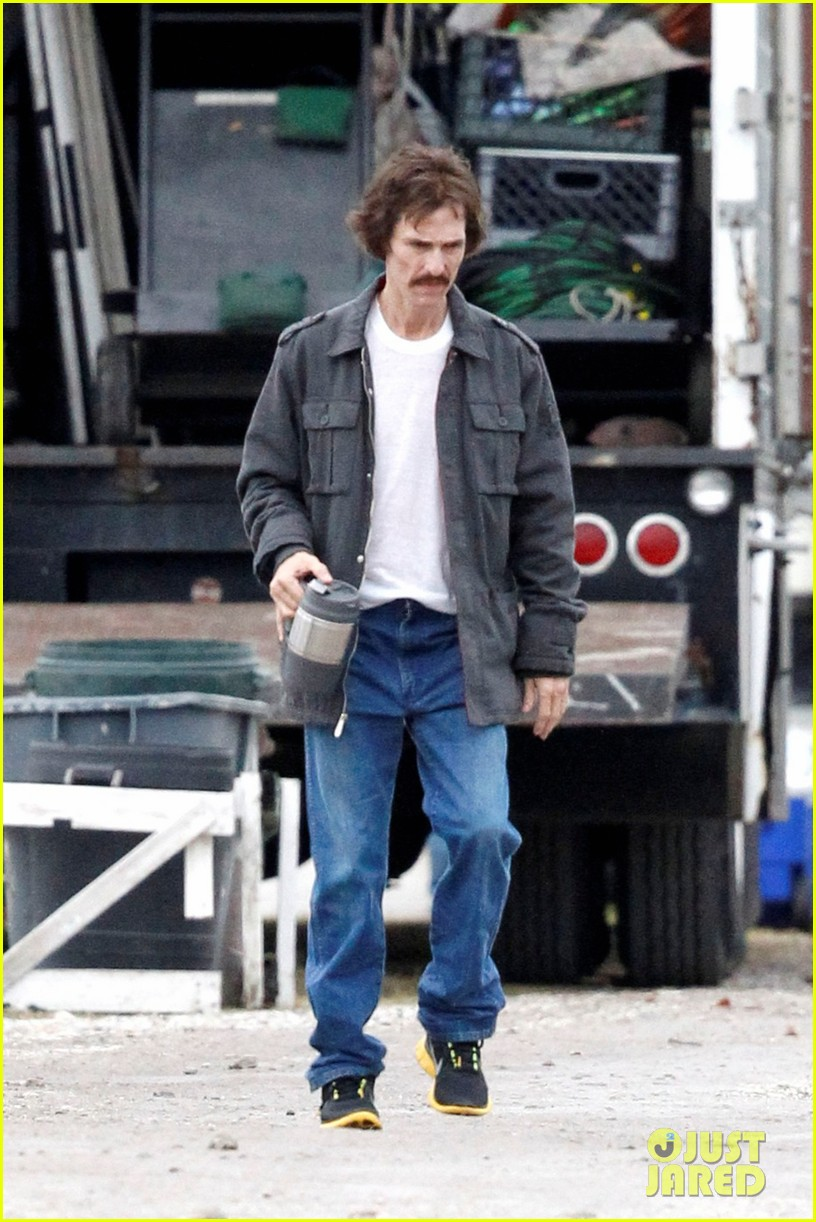 matthew mcconaughey bloody mustache on set 012756678
