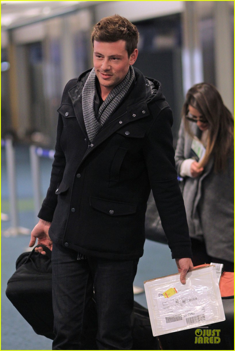 lea michele cory monteith vancouver departing couple 112763875