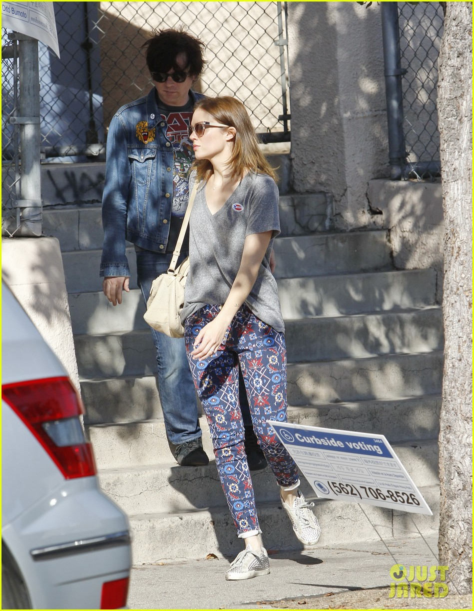 mandy moore votes with birthday boy ryan adams 19