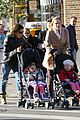 sarah jessica parker brisk morning walk with the kids 08