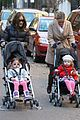 sarah jessica parker brisk morning walk with the kids 12